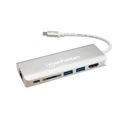 Manhattan USB-C 3.1/ HDMI,2USB,C,GIG,SDC