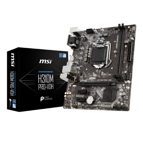 MSI 1151 H310 2XDDR4 3PCIE VGA/HDMI MATX