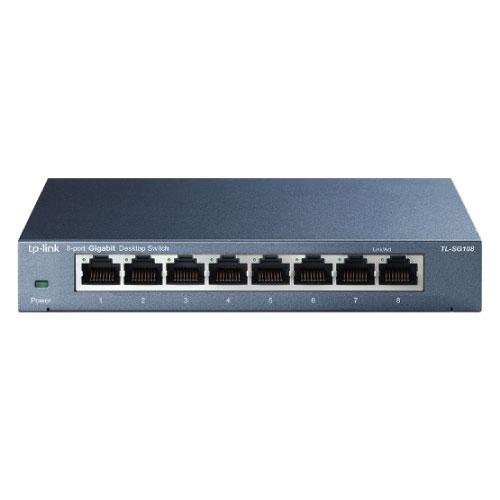 Tp-Link 8 Port 10-1000 Switch Metal