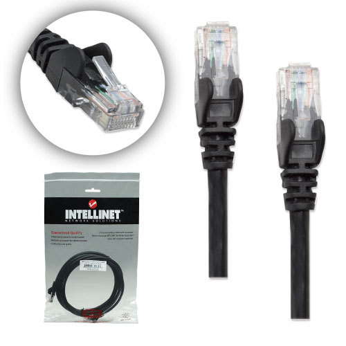 7 ft Black 10 Pack Cat5E UTP Patch cable