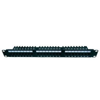 Techly Cat5e Patch Panel 24 Port  RV2 1U
