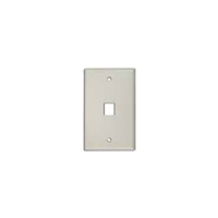 Flush Wall Plate 1 Port White - 10 pack