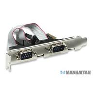 Mnhttn 2 Port Serial Card  PCI-E x1 Lpb