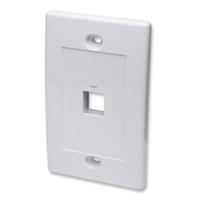 Flush Wall Plate 1 Port White - 10 pack