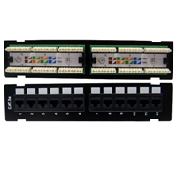 Techly Cat5E Patch Panel 12Port /MNT