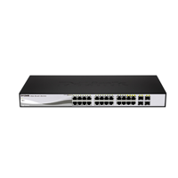 D-LINK 24 PT 10-1000 WEB SMART 4SFP LTW