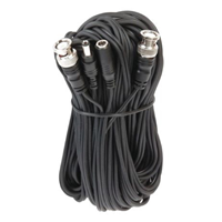 50' Combo Cable Mini Coax Bnc And 2.1MM