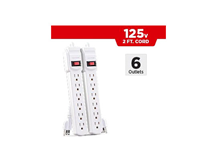 2-Pack Cyber Power 6 Outlet  2ft Cord