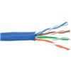 1000' Cat5 Solid UTP Plenum 350 MHz Blue